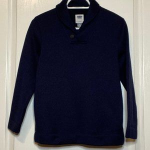 BOYS OLD NAVY BUTTON SHAWL COLLAR SWEATER, LG